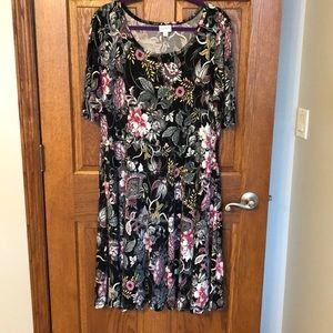 Lularoe Stunning Silky Stretchy Floral Nicole NWOT